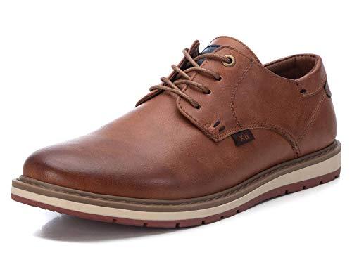 XTI - Zapato Oxford para Hombre - Cierre con Cordones - Color Camel - Talla 39