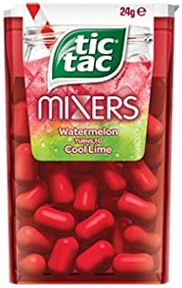 Tic Tac Mixers Watermelon Turn To Cool Lime 24g x 24