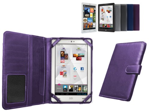 MiTAB Custodia viola in pelle Bycast per il New Kobo Arc 7 ' pollici Android E-reader Tablet