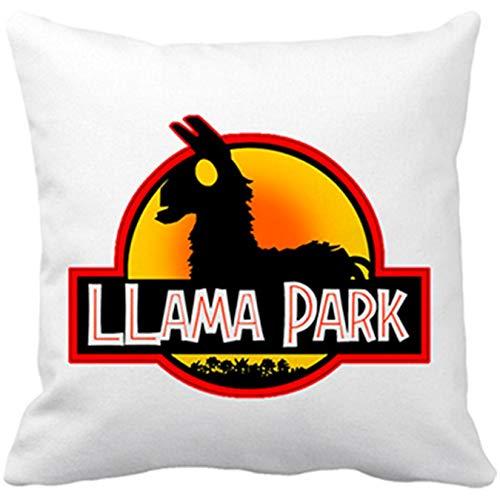 Cojín con Relleno Llama Park Silueta - Blanco, 35 x 35 cm