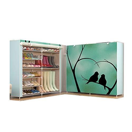 JCXOZ Y Sencilla Tela de Zapatos Gabinete Moderna/Zapato práctico Bastidores de Varios Pisos hogar Economía Sección/Botas Dedicado Sencilla Polvo Asamblea Gabinete de Almacenamiento (Size : Boots)