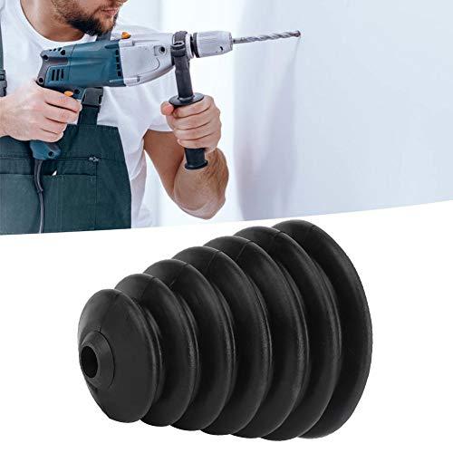 tragbar Ca. 8,5 cm großer Mund Ca. 1,5 cm kleiner Mund Elektrohammer Dust Cove Staubschutzkappe Elektrohammer Bohrmaschine(black)