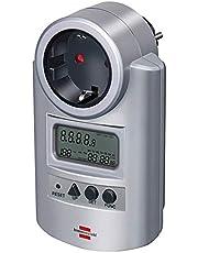 Brennenstuhl Primera-Line energiemeter PM 231 E (stroommeter met verhoogde aanraakbeveiliging, energiekostenapparaat met 2 individueel instelbare tarieven)