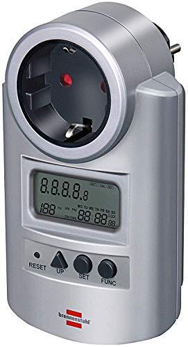 Brennenstuhl Primera-Line Energiemessgerät PM 231 E (Strommessgerät mit erhöhtem Berührungsschutz, Energiekostengerät mit 2 individuell einstellbaren Stromtarifen)