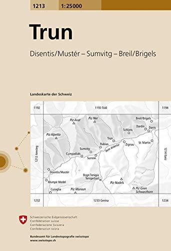 1213 Trun: Disentis/Mustér - Sumvitg - Breil/Brigels (Landeskarte 1:25 000)