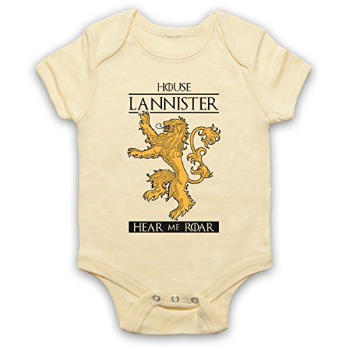 The Guns Of Brixton Game of Thrones House Lannister Babystrampler, Hellgelb, 0-3 Monate
