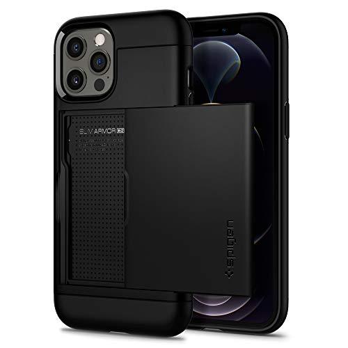 Spigen Slim Armor CS Hülle Kompatibel mit iPhone 12 Pro & Kompatibel mit iPhone 12 -Schwarz