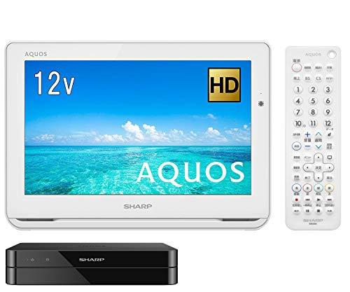 シャープ 12V型 ポータブル液晶テレビ AQUOS 2T-C12AF-W ハイビジョン 防水&ワイヤレス設計 ホワイト