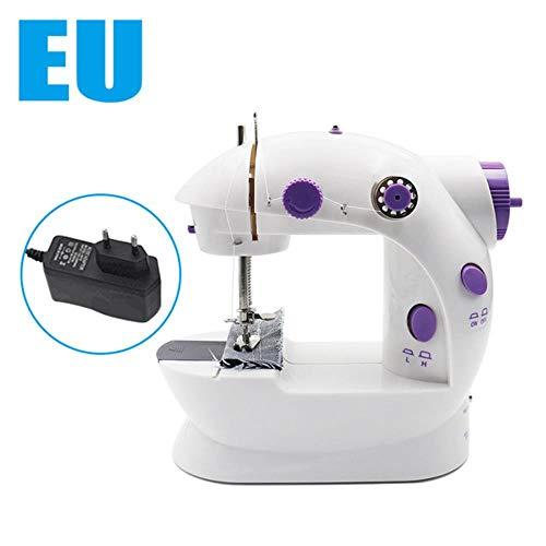 K-ONE Mini máquina de coser eléctrica para máquina de coser doméstica a mano para coser puntada de bloqueo con máquina de coser portátil ligera, Máquina de coser Eu, CHINA