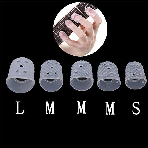 Ttzz 5 stücke Finger Abdeckung Anti-Slip Hände Mantel Relief Spielen Schmerzen Handschuhe für Ukulele Elektrische Akustikgitarre Saiten Musikinstrument Transparente Farbe