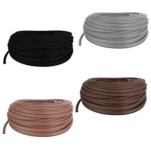 SunDeluxe 25m Fugendichtband für Terrassendielen mit Fugenabstand von 8-10,5 mm - Fugenband Länge: 1 Meter - Bodenfüllprofil aus TPE Meterware Zuschnitt - Anzahl = Länge in Metern, Farbe:Grau