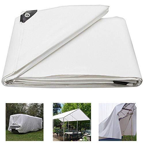 BLJS UV Sunshade Cloth, Tarpaulin Waterproof Heavy Duty, PE Tarpaulin Anti Rectangle Umbrella White Tarpaulin Summer Car Cover Camping Patio Roof,6mX8m (20x26ft)