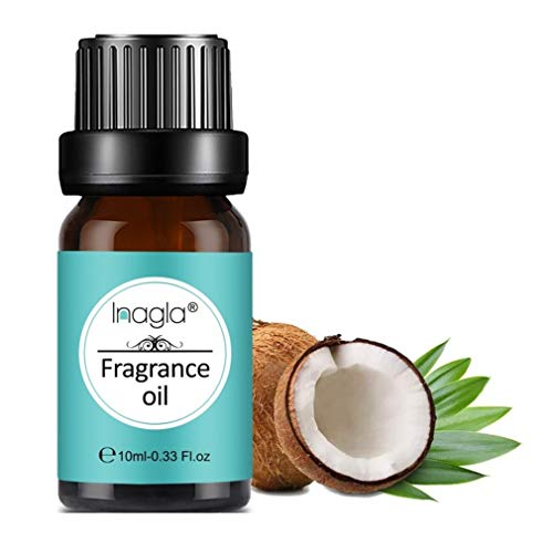Inagla Aceites de Fragancia, Aceites de Aromaterapia, Aceites Esenciales para Humidificadores de Coco y vainilla 10ML