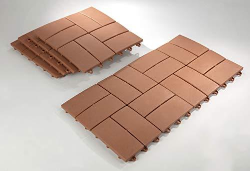 Paneles de jardín de 30 x 30 cm de UPP®, adecuados para...