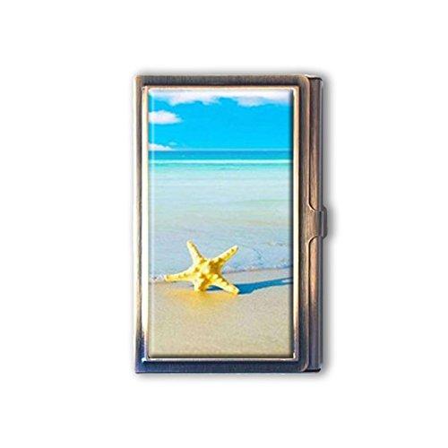 jkfgweeryhrt Beach Starfish Custom Portable Business Bank Name Card Case Holder Box Pocket Credit Card ID Wallet