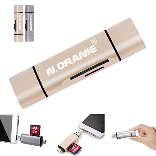 N.Oranie カードリーダー Type C USB-A Micro USB アダプタ 変換コネクタ USB 2.0 ゴールド