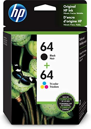 HP 64   2 Ink Cartridges   Black, T…