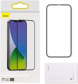 Baseus 0.3mm full-screen curved tempered glass screen protector For iP 12 mini 5.4inch 2020(2pcs/pack+Pasting Artifact) Black