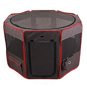 Jlxl Enclos pour Chiots, Chien Pliable Tente Parc Imperméable Oxford Chenil Portable Courir Cage Caisse Clôture Intérieur Extérieur Niche (Size : M 90×90×60cm)