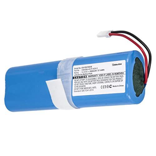 Akku kompatibel mit Saugroboter Medion MD18500, ILIFE V3S Pro, V50, V5s Pro, V8s, X750 - ersetzt 18650B4-4S1P-AGX-2 - Li-Ion 2600mAh