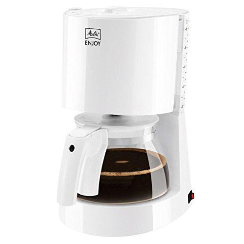 Melitta 1017-01, Filterkaffeemaschine, Patentierter Aromaselector, Automatische Endabschaltung, Weiß, ENJOY, 214495 Filter-Kaffeemaschine, Kunststoff, 1.2 liters