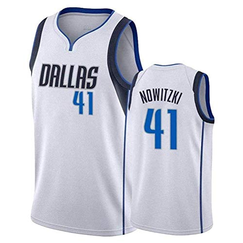 Dirk Nowitzki # 41 Männer Basketball Jersey Sport Retro Swingman Trikots Sleeveless Hemd (Color : 5, Size : XL)