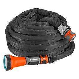 GARDENA Liano tuyau textile set 10m: tuyau d'arrosage flexible et robuste en tissu textile, tuyau idéal pour balcon et…
