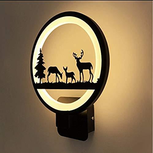 Top Seller moderne Led Applique Douce Ambiance Nuit Lampe Deer Famille Lampe Warm White