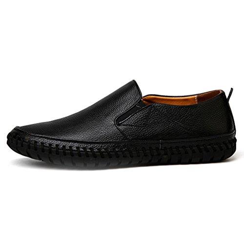Qianliuk Herren echte Leder Wohnungen handgefertigte hochwertige atmungsaktive Kausale Slip-on Business Lazy Driving Schuhe
