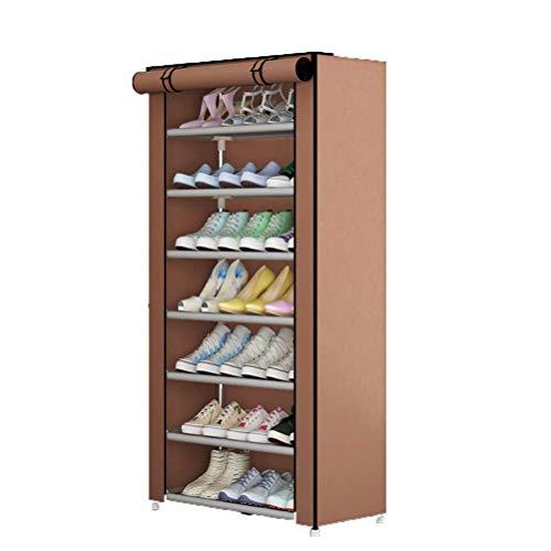 CHUTD Zapatero de Tela Oxford Desmontable Organizador de Zapatos Impermeable y a Prueba de Polvo Almacenamiento de Zapatas de 5 Niveles Almacenamiento para Dormitorio, Sala de Estar, marrón, marró
