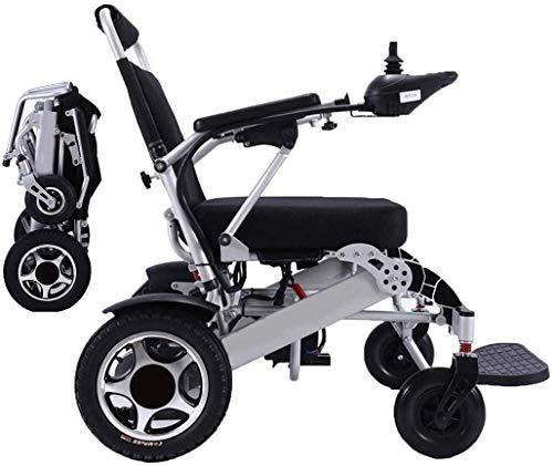 MUJO Elektrorollstuhl Faltbarer leichter Deluxe Power Mobility Aid Rollstuhl Dualer 500W-Motor Doppelbatterie Tragbarer Elektrorollstuhl