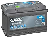 Exide Premium EA722 TYPE 100/096 Car Van Battery - 12V 72Ah 720A - 4 Years Warranty (Please check size before buying)