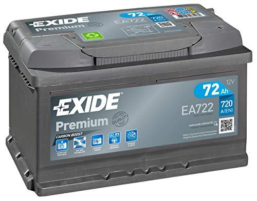 EA722 Exide Premium Carbon Starterbatterie 12V 72Ah