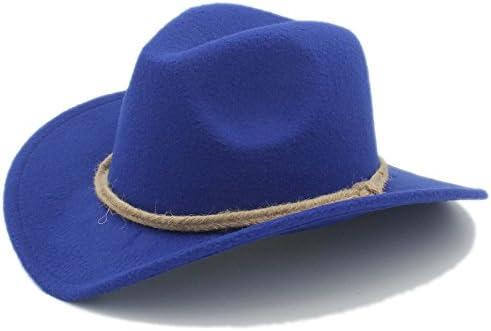 YWHY Women Men's Chapeu Western Cowboy Hat Gentleman Cowgirl Wide Brim Jazz Hat