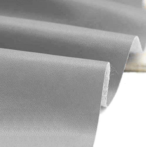 A-Express Cuero de imitación Tela Cuero sintético Vinilo Paño de cuero Material de tela 140cm de ancho - Gris 1 Metro (100cm x 140cm)