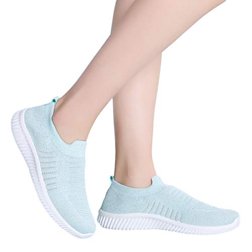 Review Behkiuoda Women Flat Sport Shoes Breathable Lightweight Sneakers Summer Mesh Casual Running S...