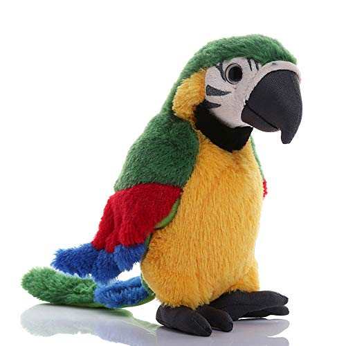 Macaw Parrot Plush, Green Bird Stuffed Animal Plush Toy Doll Gifts for Kids 9.8'