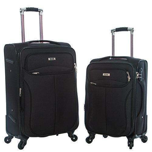 """Haughton Alexander Juego de maletas Negro Oxford Black 20"""" & 24"""" Set"""