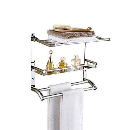 ZYING Tiempo de conservación de Acero Inoxidable Estante de Almacenamiento for la Cocina y el baño, montado en la Pared del Estante del condimento, fácil de Montar