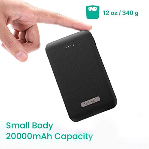 Portable Charger 20000mAh,Sethruki Smallest & Lightest Dual USB External Battery,Ultra-Compact Fast-Charging-Technology Power Bank Compatible for iPhone,Samsung Galaxy and More