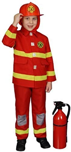 rot Fire Fighter Deluxe Kids Costume by Dress Up America