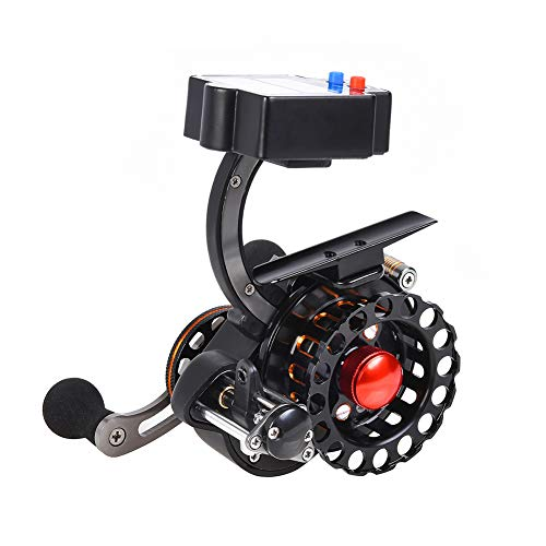 Carretes de pesca, Carrete de Pesca de Spinning Carrete de Pantalla Digital de Perfil Bajo de Línea Contador de Peces Aparejo (TB60R)