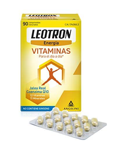 LEOTRON Vitaminas - 90 comprimidos- Energía que se nota - Complemento alimenticio con Jalea Real, Coenzima Q10, 12 vitaminas y 11 minerales. Envase para 90 días. A partir de 12 años.