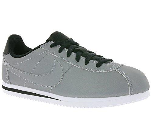 Nike Cortez Premium Unisex Schuhe in Silber Leder 905469-001