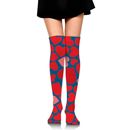 Hdadwy Knee High Socks Happy V-Day Women's Athletic Over Thigh Long Stockings
