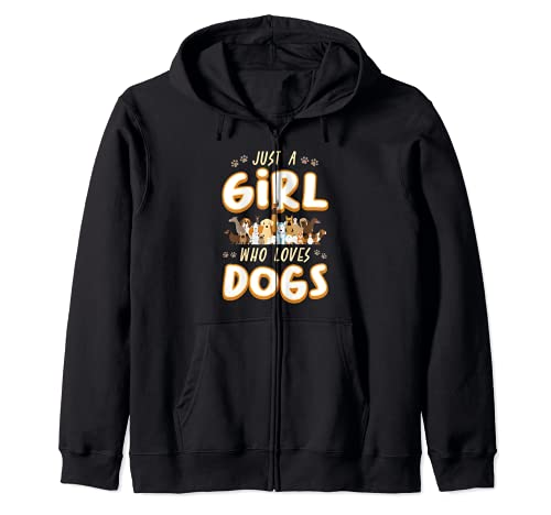 Just A Girl Who Loves Dogs - Regalo para cachorros Sudadera con Capucha