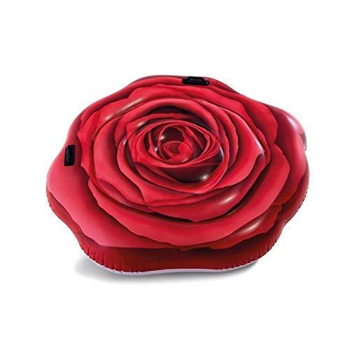 Lively Moments Badeinsel rote Rose / Floater mit Haltegriffen / Luftmatratze / Schwimminsel ca. 137 x 132 cm