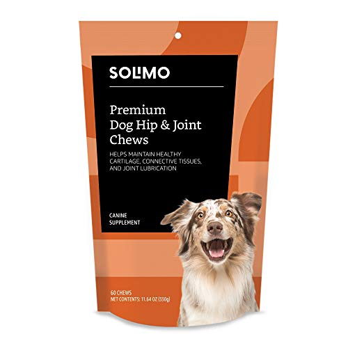 Amazon Brand - Solimo Premium Dog Hip & Joint Supplement Chews with EPA and DHA  60 Count