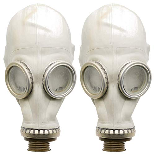 OldShop Gasmaske GP5 Set (2 Pack) - Sowjetische Militär Gasmaske Replica Sammlerstück Set W/Maske - authentischer Look & Verschiedene Größen (X-Small, Grau)