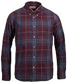 Barbour Mens Stapleton Highland Tailored Fit Check Sport Shirt XX-Large Merlot